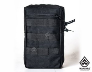 BOLSO VERTICAL WARFARE - COM 2 ZIPER - BLACK