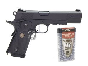 PISTOLA 4.5mm ESFERAS DE AÇO - COLT 1911 KP-07 - KJW - KJWORKS - CO2 - GAS BLOW BACK (GBB)