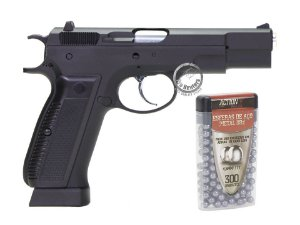 PISTOLA 4.5mm  ESFERAS DE AÇO - CZ 75 KP-09 - KJW - KJWORKS - CO2 - GAS BLOW BACK (GBB)