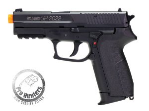 "PISTOLA AIRSOFT  SIG SAUER SP2022 - ""NBB / SLIDE FIXO"" CO2  CYBERGUN 280301"
