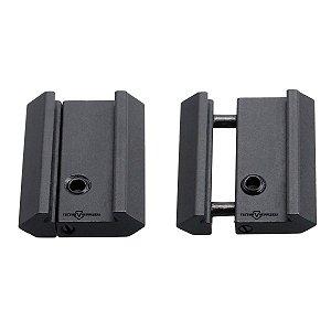 Adaptador/Redução para suporte de lanterna de Picatinny para Trilho 11mm / 16mm / 19mm  / 22mm