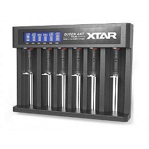 Carregador de baterias, 6 canais, entrada 5V, modelo MC6