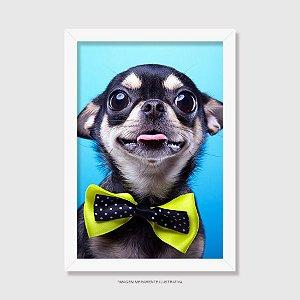 Quadro Chihuahua Preto de Gravatinha
