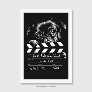Quadro Black Pug - Dogs Rule The World