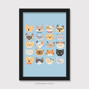 Quadro Cats Emoticons