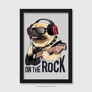 Quadro Pug On The Rock - Modelo 1