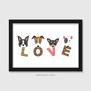 Quadro Cachorro Love - Modelo 1