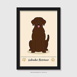 Quadro Labrador Chocolate