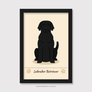 Quadro Labrador Preto