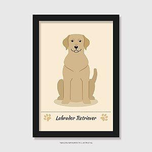 Quadro Labrador Amarelo
