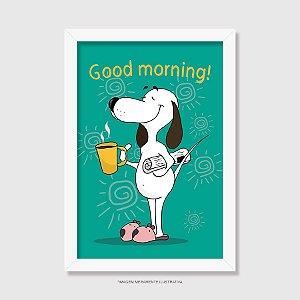 Quadro Cachorro Good Morning