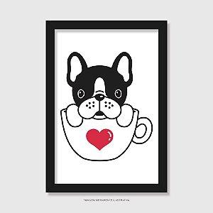 Quadro Bulldog Francês Hora do Café - Modelo 3
