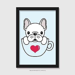 Quadro Bulldog Francês Hora do Café - Modelo 4