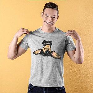 Camiseta Dachshund de Cabeça para Baixo