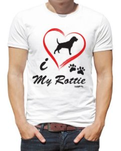 Camiseta Rottweiler I Love My Rottie