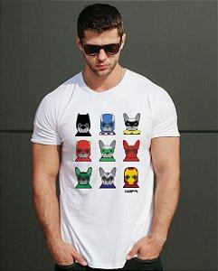 Camiseta Cachorro Super Heróis