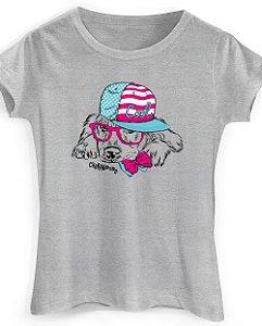 Camiseta Baby Look Cachorro Cool