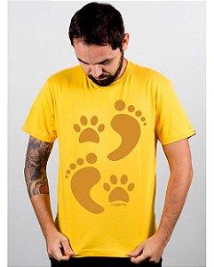 Camiseta Cachorro Pegadas