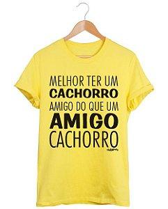 Camiseta Cachorro Amigo ou Amigo Cachorro