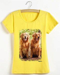 Camiseta Baby Look Personalizada com Foto do seu Cachorro