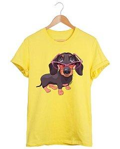 Camiseta Dachshund de Óculos