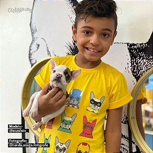 Camiseta Infantil Cachorro Super Heróis