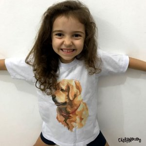 Camiseta Infantil Golden Retriever