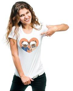 Camiseta Baby Look Cachorro - Namorados