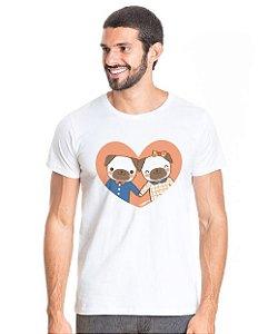 Camiseta Cachorro - Namorados