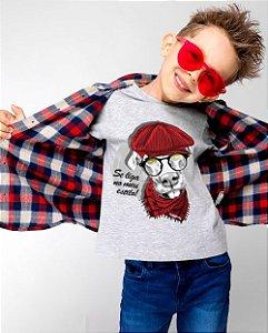 Camiseta Infantil Cachorro Se Liga no Meu Estilo