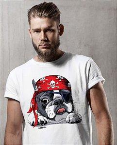 Camiseta Bulldog Francês Pirata