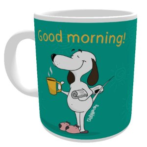 Caneca Cachorro Good Morning