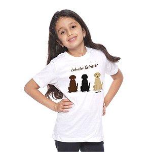 Camiseta Infantil Labrador Todas as Cores