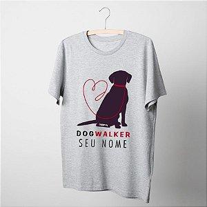 Camiseta Dog Walker Personalizada com Nome
