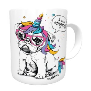 Caneca Bulldog Francês Unicórnio - I am So Magical