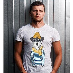 Camiseta Schnauzer Cachorro Marinheiro