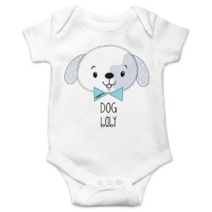 Body Bebê Dog Baby - Branco