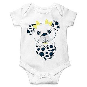 Body Bebê Cachorrinha Coração