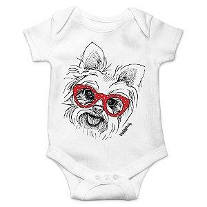 Body Bebê Yorkshire de Óculos