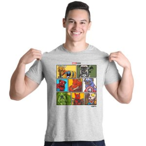 Camiseta Marvel Dogs Super Heróis