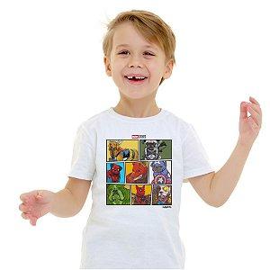 Camiseta Infantil Marvel Dogs Super Heróis