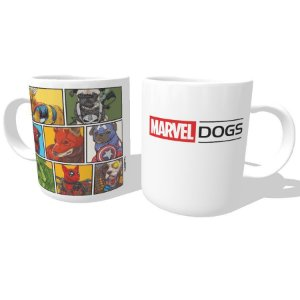 Caneca Marvel Dogs Super Heróis