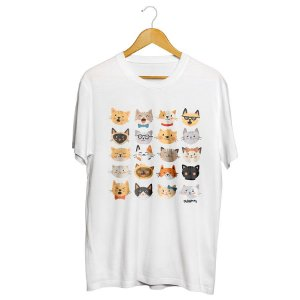 Camiseta Cats Emoticons