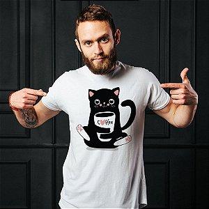 Camiseta Gato Preto Café