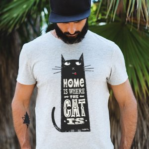 Camiseta Home Is Where The Cat Is