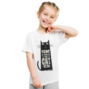 Camiseta Infantil Home Is Where The Cat Is