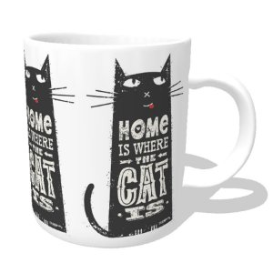 Caneca Home Is Where The Cat Is