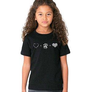 Camiseta Infantil Cachorro Amor Completo
