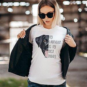 Camiseta Baby Look Meu Labrador é Meu Melhor Amigo