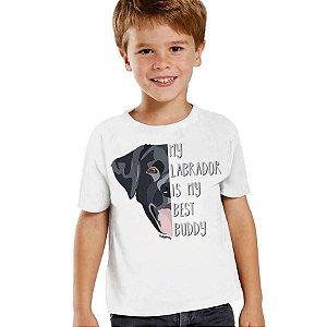 Camiseta Infantil Meu Labrador é Meu Melhor Amigo